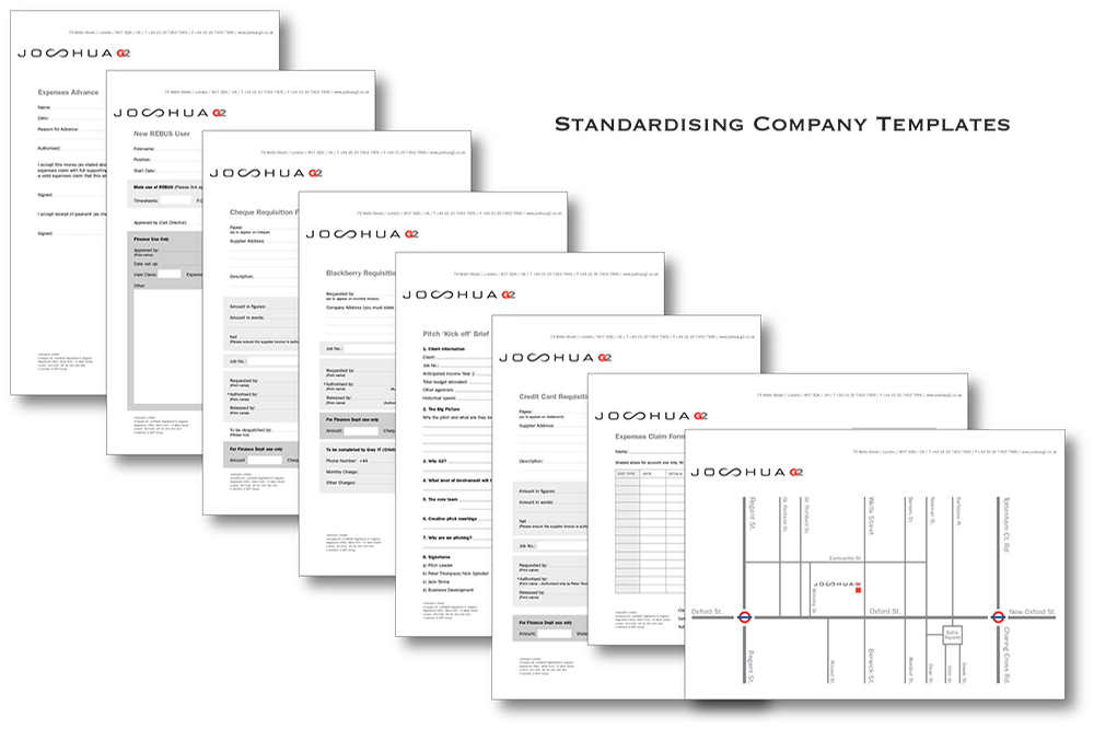 Standardising all information used in-house. Useing Brand and functionality